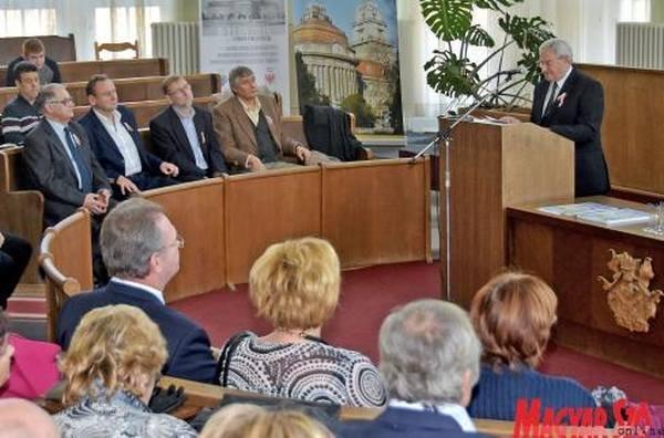 Király István szólt a tízéves tevékenységről (Gergely Árpád felvétele)
