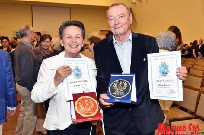 Dr. Huszár Elvira és Milan Uzelac, Palics kitüntetett polgárai (kép: Gergely Árpád)